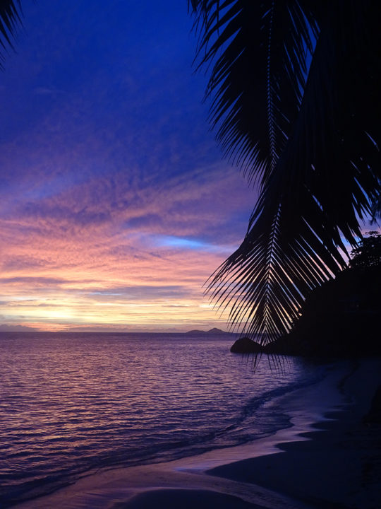 Seychelles (Praslin) at sunset